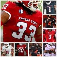 Custom 2021 Fresno State Football Jersey NCAA College 12 Trent Dilfer 9 Jake Haener 6 Ben Wooldridge 11 Josh Kelly 85 Erik Brooks 99 David Perales