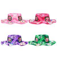 Мультфильм Детская рыбацкая шляпа Cocomelon JJ Boys Boys Girls Sun Hat Красочные Моды Симпатичные Напечатанные Детские Ведро Шляпы Детские Детские Визуализации Детский Визуализация Sunhat G82TPO