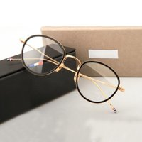 Fashion Lunettes de soleil Cadres Marque Design Alliage Acétate Lunettes Cadre Hommes Femmes Vintage Viewe Prescription Eyeglasses TB905 Myopie Optique Optique