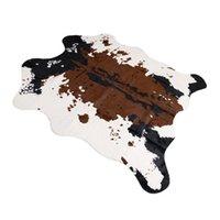 Sholisa Cowhide Alfombra de vaca Ocultar Alfombras para sala de estar Dormitorio Alfombra Poliéster para el hogar Decorativo Hand WashMorden Cow Skin 201225 739 R2