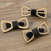 Yay Bağları Moda Ahşap Kravat Erkekler Unisex Oymak Retro Boyun Ayarlanabilir Kayış Vintage Bowtie Collarflower Güzel