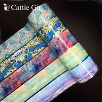 1roll 100m Abstract Painting Foil Transfer Paper s Design Art Stickers Graffiti Nails Foils Tattoo DIY Decals