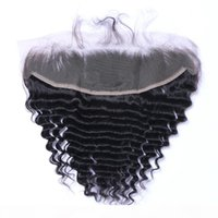 البرازيلي موجة عميقة 13x4 الأذن إلى الأذن قبل التقطه الدانتيل الدانتيل أمامي إغلاق مع شعر الطفل ريمي الإنسان الشعر مجانا الجزء الأعلى إغلاق