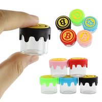 silicone dab container Empty Bottle mini nonstick jars waxdabscontainers glass jar Smoking Accessories
