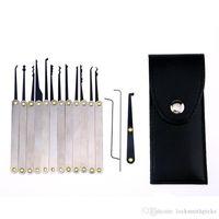 15PCS Locksmith Hand Tools Lock Pick Set for beginner Practice tools