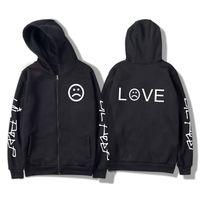 Lil Peep R.I.P. LOVE Women Sweatshirt Hoodies Off Men Kpop White Harajuku Winter And Male Zipper 2021 Black Outerwear 4XL Jdpep