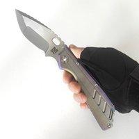 Begrenzte Anpassungsversion Mick Strider Messer MSC SMF XL # 79 Tanto Klappmesser Titan Griff S35VN Nightmare Blade Outdoor Equipment Schwere EDC-Werkzeuge