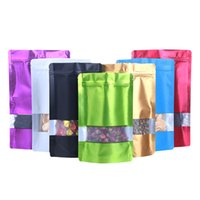 9*13cm plastic zipper retail organic packaging bag aluminum foil food snack storage pacakge bags with window resealable valve zip lock mylar packing pouch