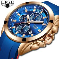 Top Business Mens Watches LIGE High Quality Silicone Strap Men Quartz Watch Automatic Date Sports For Wristwatches