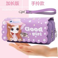 Pencil Girls' stationery box in girl heart junior high school students Korean version lovely fairy case