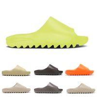 Pantofole di scorrimento di alta qualità per la vendita Glow Grow Bone Bone Core Enflame Arancione Resina Desert Sand Earth Brown Men Donne Soot Pure Flat Beach Sandali con scatola