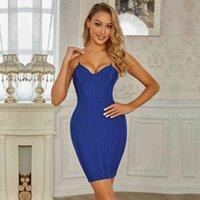 elbise swtao 2021, mavi, seksi, zarif, sıkı, gece kulübü şerit akşam wzfj