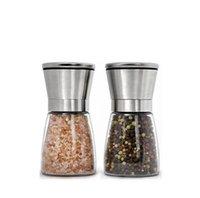 Acciaio inossidabile manuale sale macinatore di pepe Grinder condimento bottiglia Grinde R Strumento di accessori da cucina in vetro