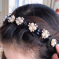 헤어 액세서리 어린이 농구 머리 띠 만화 머리핀 클립 Haibands 진주 꽃 강타 고정 달콤한 귀여운 소녀 머리웨어