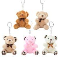 10cm Bear Pendant Plush Keychains Stuffed Animal Plush Doll Key Chain Bear Doll Birthday Plush Keychains Gift for Kids Girls Key wjl3919