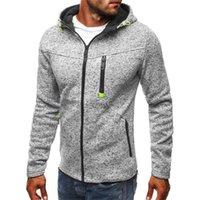 Hoodies Men Fashion Personality Zipper Sweatshirt Male Solid Color Hoody Tracksuit Hip Hop Autumn Hoodies Men