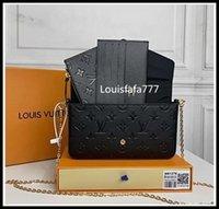 """LV """"Louis""""Vitton Vutton 3 PCS / 세트 좋아하는 멀티 포크 액세서리 여성 크로스 바디 지갑 메신저 숄더백 핸드백 디자이너 지갑"""