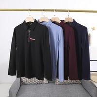 21ss Men Polos Classic Casual T Рубашки для Мужчины Терри Красивая Свободная версия Резка Процесс с коротким рукавом Мода Дизайн отворота импортированного TENC