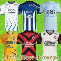 Mexique Club 2021 FC Monterrey Soccer Jerseys Tigres Home Funes Funes Mori 20 21 22 Amérique Chivas 75 ans Anniversaire Shirt de football