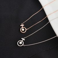 colar weiheng s925 círculo design pérola clavícula simples temperamento mulheres