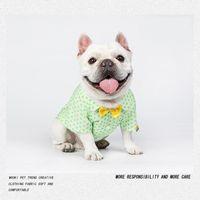 Dog Apparel Shirt Clothes T Shirts Pets Luxury Puppy Designer Pet Green