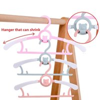 Hangers & Racks 5 10pcs Flexible Baby Clothes Hanger Unmarked Children Coats Organizer Plastic Clothing Display Kids