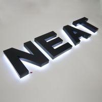 Handcraft LED-Hintergrundbeleuchtung-Buchstaben Metall-Kanal-Buchstabe Black Paint Wandbuchstaben Einfache Montage LED-Beschilderung