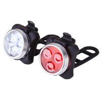 Велосипедный свет перезаряжаемый передний и задний набор велосипедов 650 мАч литиевая батарея 4 варианты
