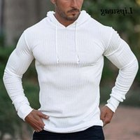 hoodies Casual Solid Used Hooded Sweatshirt For Men 2021 Spring Fashion Long Mouw Slender Track Hoodies Male Fitness Sports Trunks