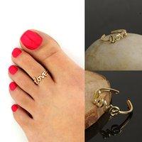 Amore anello semplice dito regolabile dito rosa rosa per unghie per il piede dei piedi dei piedi di modo Tiny Moda Donna Gioielli
