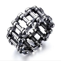 Mixed order valentine's Day gift stainless steel band rings men's ring chain designer finger jewelries factory supplier dropshipping hip hop jewelry GJ651