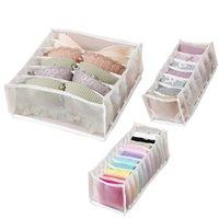 Caixa de armazenamento da gaveta Caixa de sutiã Organizador Underpants Meias Finishing Boxs Dobrável 24 Grade Divisor Bras Sock Suprimentos KKB7071