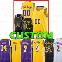 2021 Özel Marc 14 Gasol Basketbol Jersey Trevor 1 Ariza Los Dwight 39 Howard Angeles Rajon Kent 9 Bazemore Rondo Wayne 2 Ellington Devontae 12 Cacok Malik 11 Monk