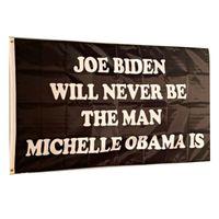 Trump Flag Joe Biden Wont Be The Man Obama Is Vivid Color UV Fade Resistant Double Stitched Decoration Banner 90x150cm Digital Print Wholesale