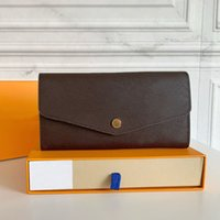 M60531 SARAH Portefeuille Top Qualité Dame Longue Envelope Flap Portefeuilles Designers Connecteurs Porte-pièces Porte-monnaie Mini Pochette Pochette avec boîte