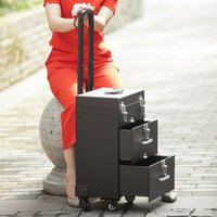 Suitcases Multifunction Luxury Perfection Cosmetic Case Rolling Luggage,Multi-layer Beauty Tattoo Salons Trolley Make Up Suitcase