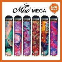 Оригинальные MISO MEGA одноразовые устройства POD-устройства Комплект 5000Puffs 4000mAh 6ml Предварительно нафиксированная портативная портативный Vape Stick Puff Plus Plus Bang XXL MAX 100% подлинный