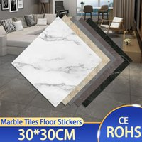 Wall Stickers Thick Self Adhesive Tiles Floor Marble Bathroom Ground Wallpapers PVC Bedroom Furniture Sticker Room Decor Modern