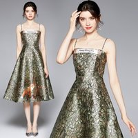 Noble Womens Sling Dress Prom Evening Dress High-end Fashion Lady Strapless Dress Summer Printed Dresses