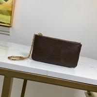 Sacs de concepteur de luxe Mode Menswomens Key Ring Clé Carte de crédit Porte-monnaie Porte-monnaie Mini Portefeuille de Prestige M80696 N62659 N62658 M69508