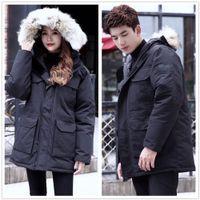 겨울 다운 자켓 최고 품질 남성 복어 재킷 큰 진짜 늑대 모피 후드 두꺼운 따뜻한 파커 Doudoune Homme 야외 코트 코트 상류 패션 캐주얼 객관식