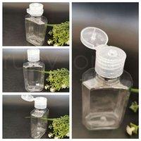 60 ml achteckige leere Hand Sanitizer Flaschen separate Abfüllung Pet Flip Cap Extrusion Flaschen reisen tragbare klare quetschte flasche rra4235