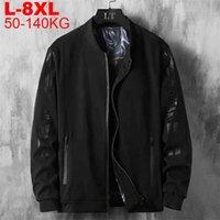 Big Size 7xl 8xl Men's Sportswear Bomber Jacket Man Motorcycle Windbreaker Male Coats Hip Hop Streetwear Baseball Jackets Men 210820