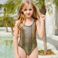 4-14Y Girls Swimsuit Kids One Piece Swimwear High Quality Children For Kid Girl Beach Wear Bathing Suit One-Piece Suits