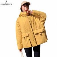 Pinkyisblack 2019 Новый Высокое Качество Зимняя Куртка Женщины Короткие Парки для Пальто Мода Женский Дробь Куртка с капюшоном Женщины Зимнее Пальто P1i9 #