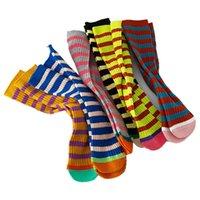 Kids Socks Girls Boys Knee High Sock Cotton Stripe Children Accessories Autumn Winter Stockings Baby Clothes Wear Casual 1-8Y B8847