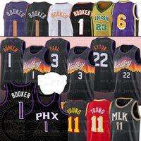 1 Devin 22 Deandre Booker Paul Ayton 3 Chris Trae Valley Siyah Basketbol 11 Genç Formalar LBJ 6 NCAA Dikişli Jersey
