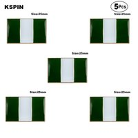 Нигерия отворотный флаг флаг значок брошь булавки значки 5 шт.