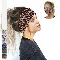 Leopard Leaf Print Yoga Running Sports Headbands for Women Stretch Wide Hair Bands Turban Head Wrap Hairband Hair Accessories