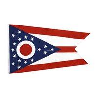 Fabbrica Diretto all'ingrosso Doppio cucito 3x5ft 90 * 150cm Ohio State Bandiera Bandiera regionale Bandiera per la decorazione HWD5678